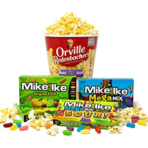 Orville Redenbacher's & Mike and Ike Movie Night Kit Chewy Candy & Microwave Popcorn Bucket, 1.5 lb.