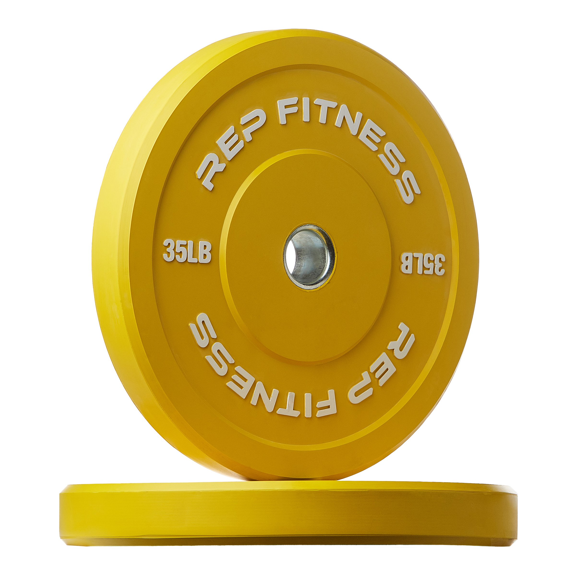 Rep Color Bumper Plates for Strength and Conditioning Workouts and Weightlifting, 35 lb Pair by Rep Fitness (Image #1)