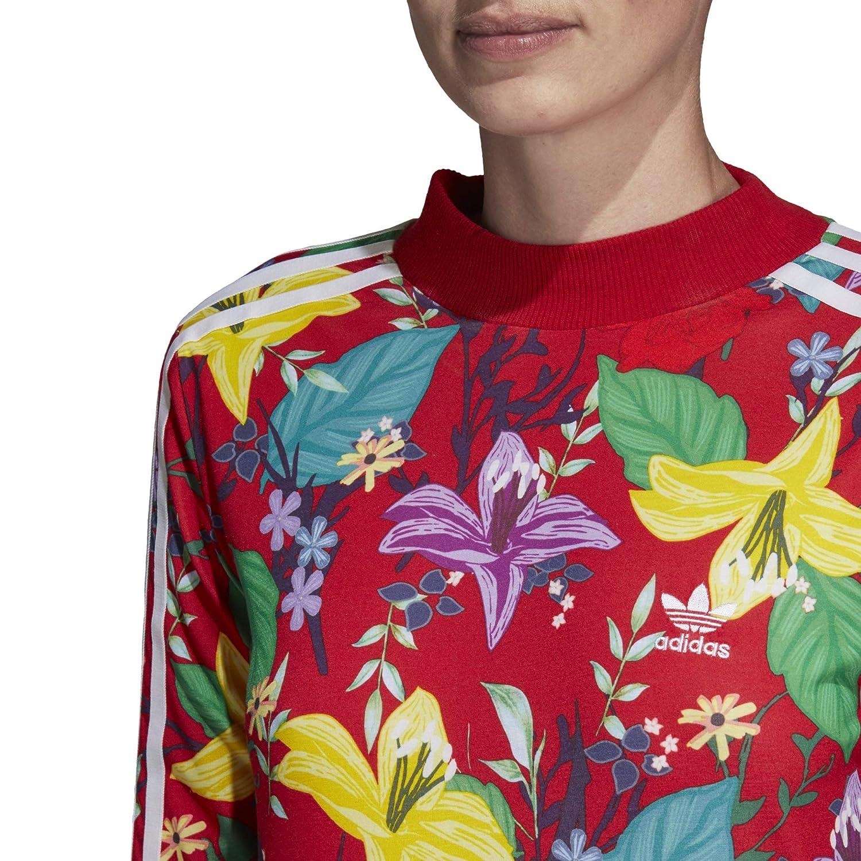 ae27a5c2 adidas Originals Womens Floral Graphic Print Long Maxi Dress (S (US ...
