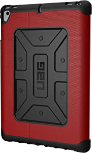 URBAN ARMOR GEAR UAG Folio iPad 9.7 (2017 5th Gen & 2018 6th Gen), iPad Pro 9.7, iPad Air 1/Air 2 Metropolis Feather-Light Rugged [Magma] Military Drop Tested iPad Case