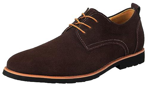 DADAWEN 10007 - Zapatos de cordones de Piel para hombre , color multicolor, talla 44