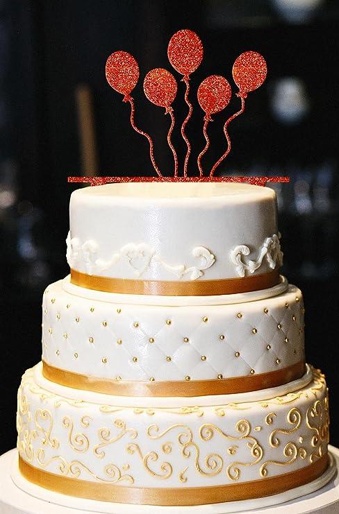 Amazon Balloons Cake Topper Glitter Birthday Cake Topper