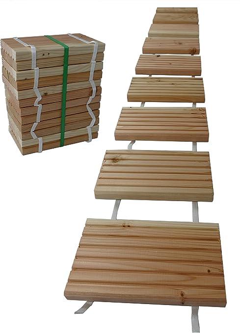 Gartenpirat® - Baldosas de madera para senderos de jardín de 25 x 250 cm: Amazon.es: Jardín