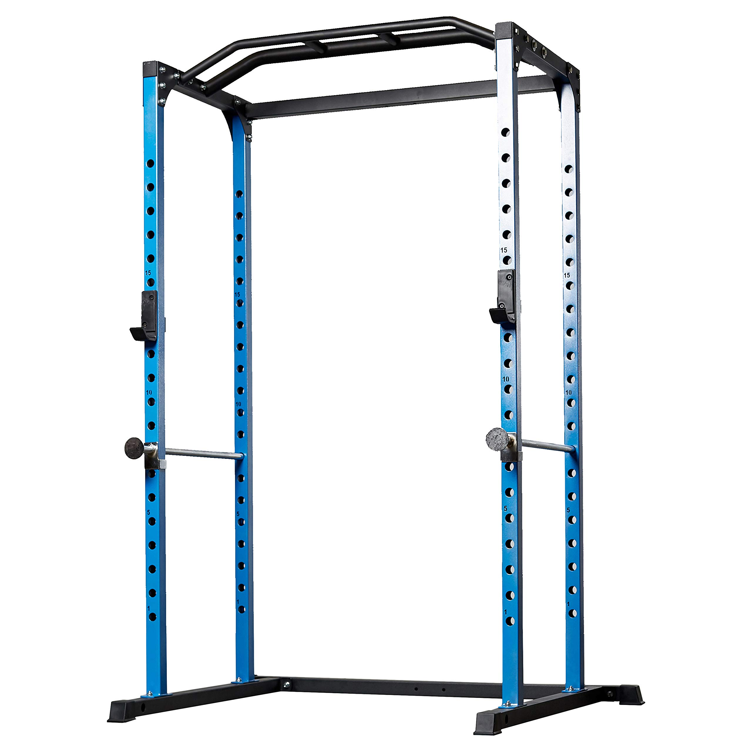 Rep PR-1100 Power Rack - 1,000 lbs Rated Lifting Cage for Weight Training (Blue Power Rack, No Bench)