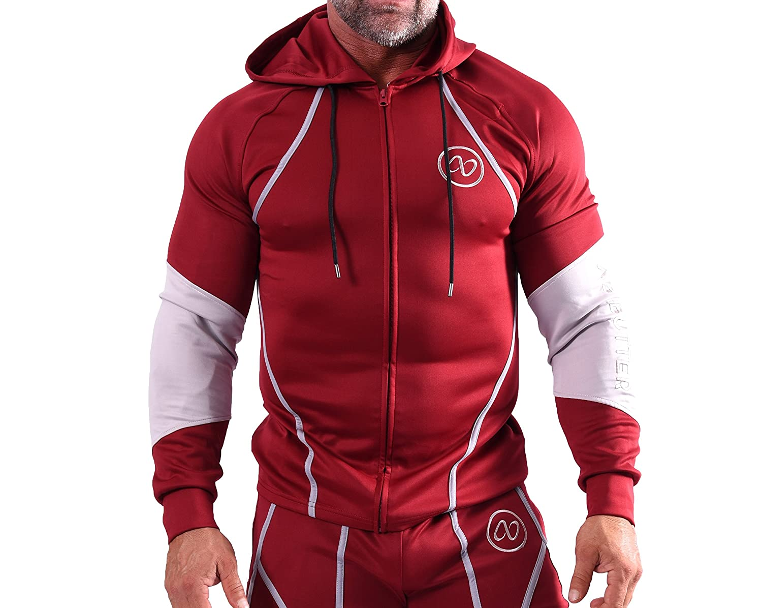 AB Butter Mens Training Hoodie Jacket for Fitness Gym Workout Running