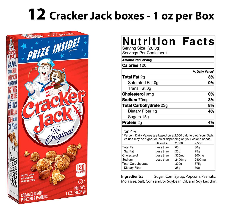 36 Baseball Snacks - 12 Each - 12 Cracker Jack Boxes (1 oz), 12 Big League Chew Bubble Gum (2.12 oz), 12 David Sunflower Seeds (1.625 oz). Also Includes 12 Baseball Stickers by HeroFiber (Image #3)