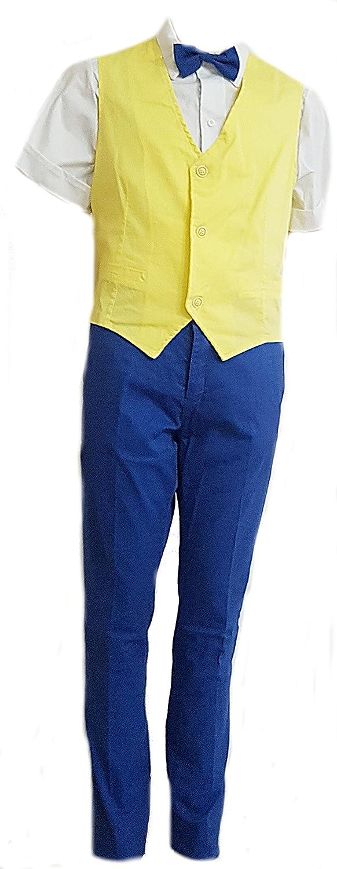 8e327227da75d1 Completo sportivo elegante bambino ragazzo cerimonia estivo giallo tg 40:  Amazon.it: Abbigliamento
