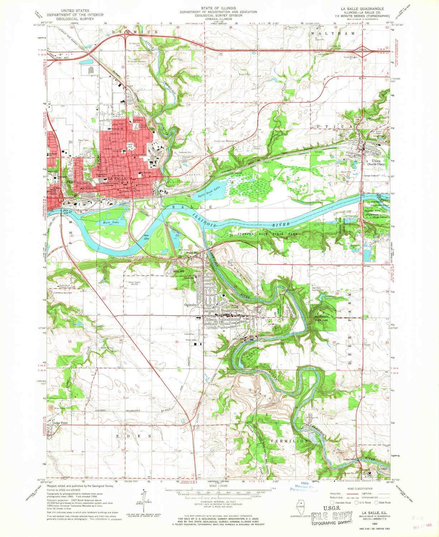 Amazon.com : YellowMaps La Salle IL topo map, 1:24000 Scale ...