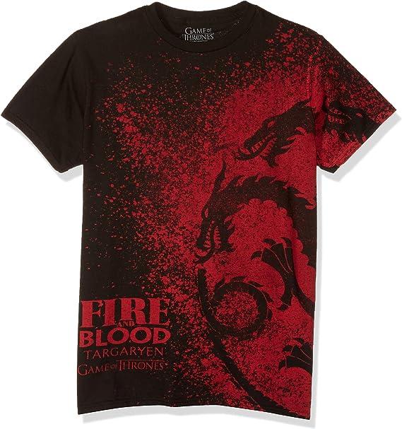 Amazon.com: HBO Juego de Tronos, camiseta hombres, fuego y ...