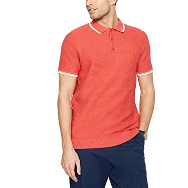 d4cfcb4af Racing Green Men Coral Brick Textured Polo Shirt: Racing Green:  Amazon.co.uk: Clothing
