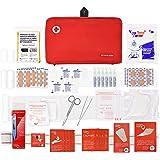 Botiquín primeros auxilios SUPER ROL con 120 artículos indispensables para realizar curas de emergencia (ROJO)