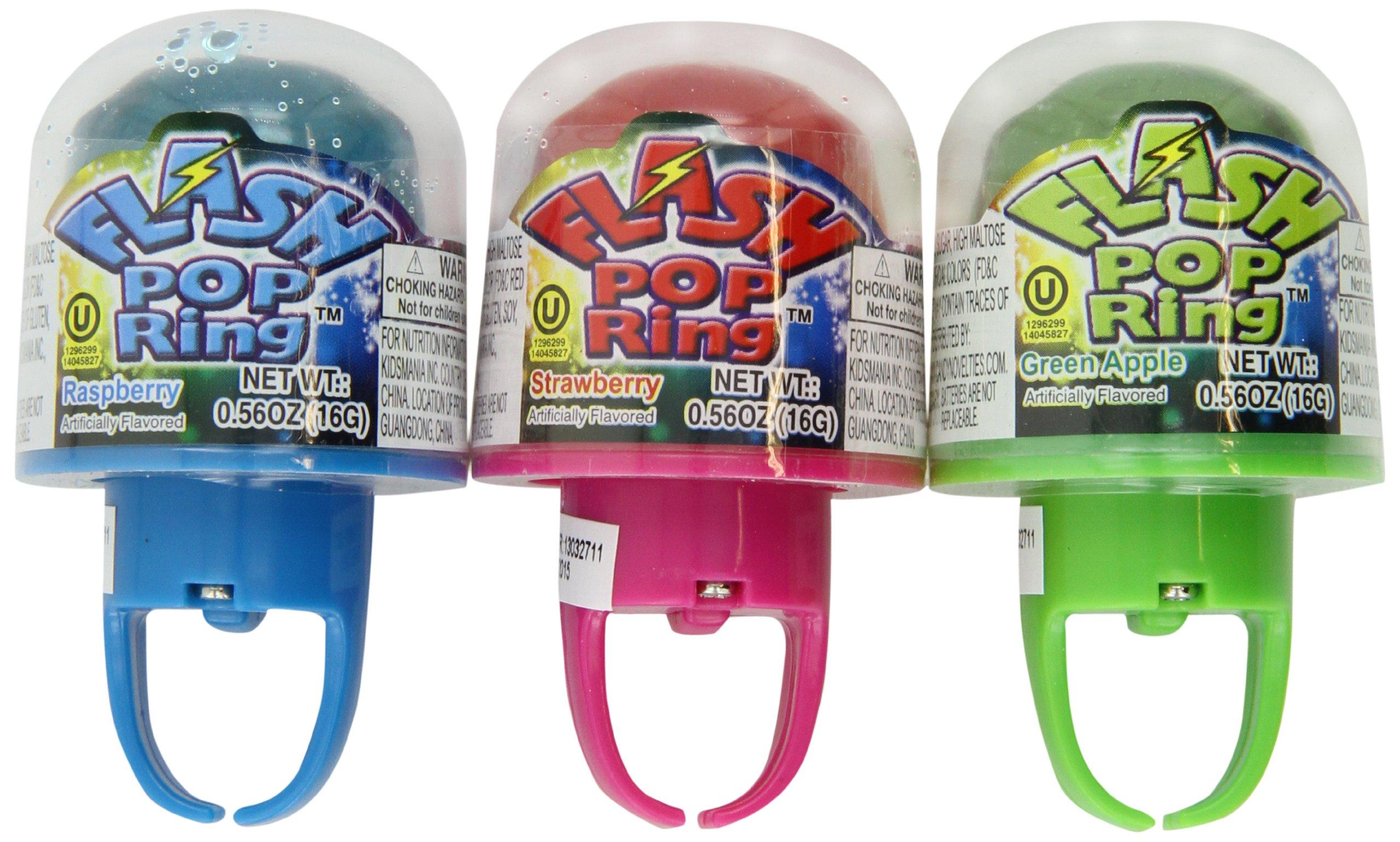 Kidsmania Flash Pop Lollipop Ring, Lights when You Wear It, .56-Ounce Rings (Pack of 24)
