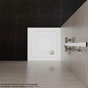 70 x 90 cm Blanco VILSTEIN VS-DD01-70x90W/_VAR Plato de ducha sin desag/üe