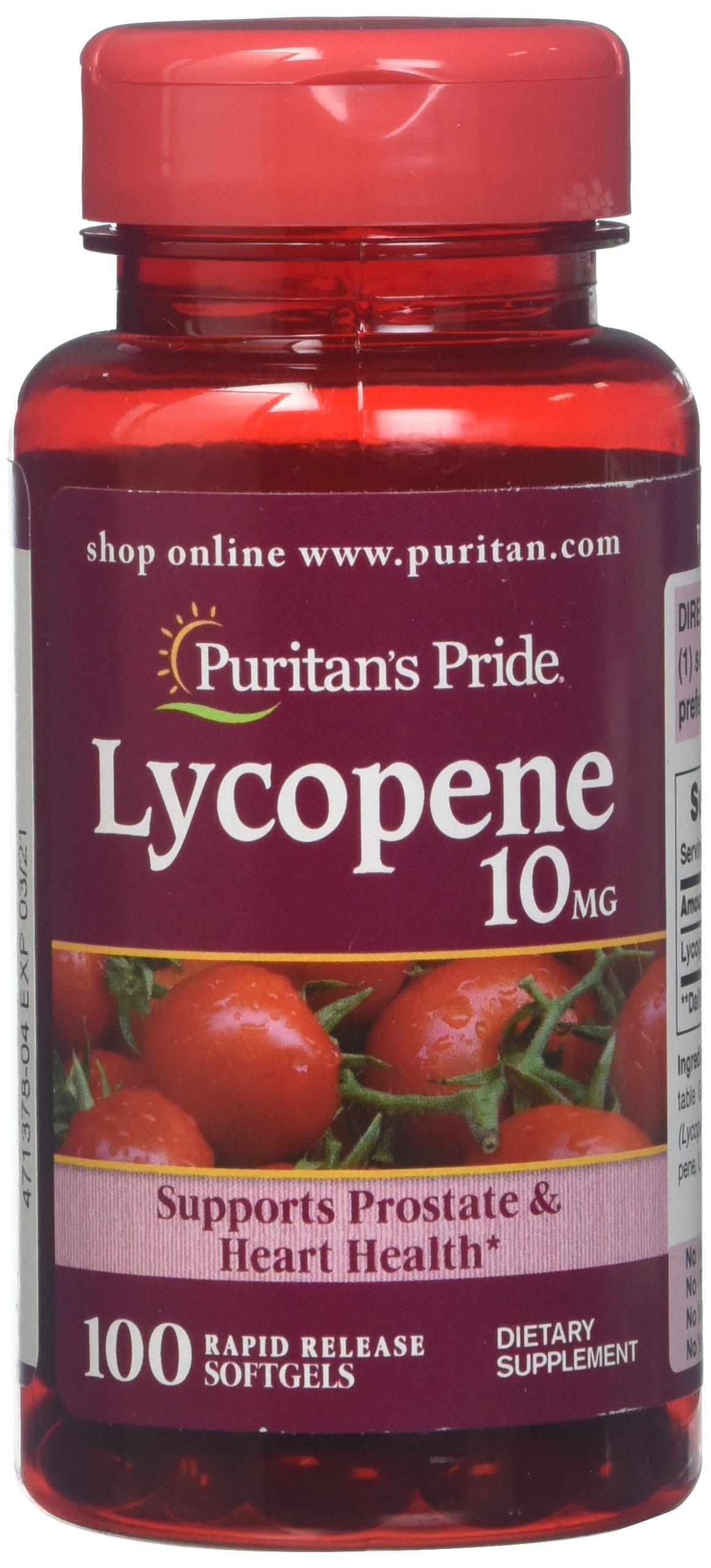 Puritan's Pride Lycopene 10 mg-100 Softgels