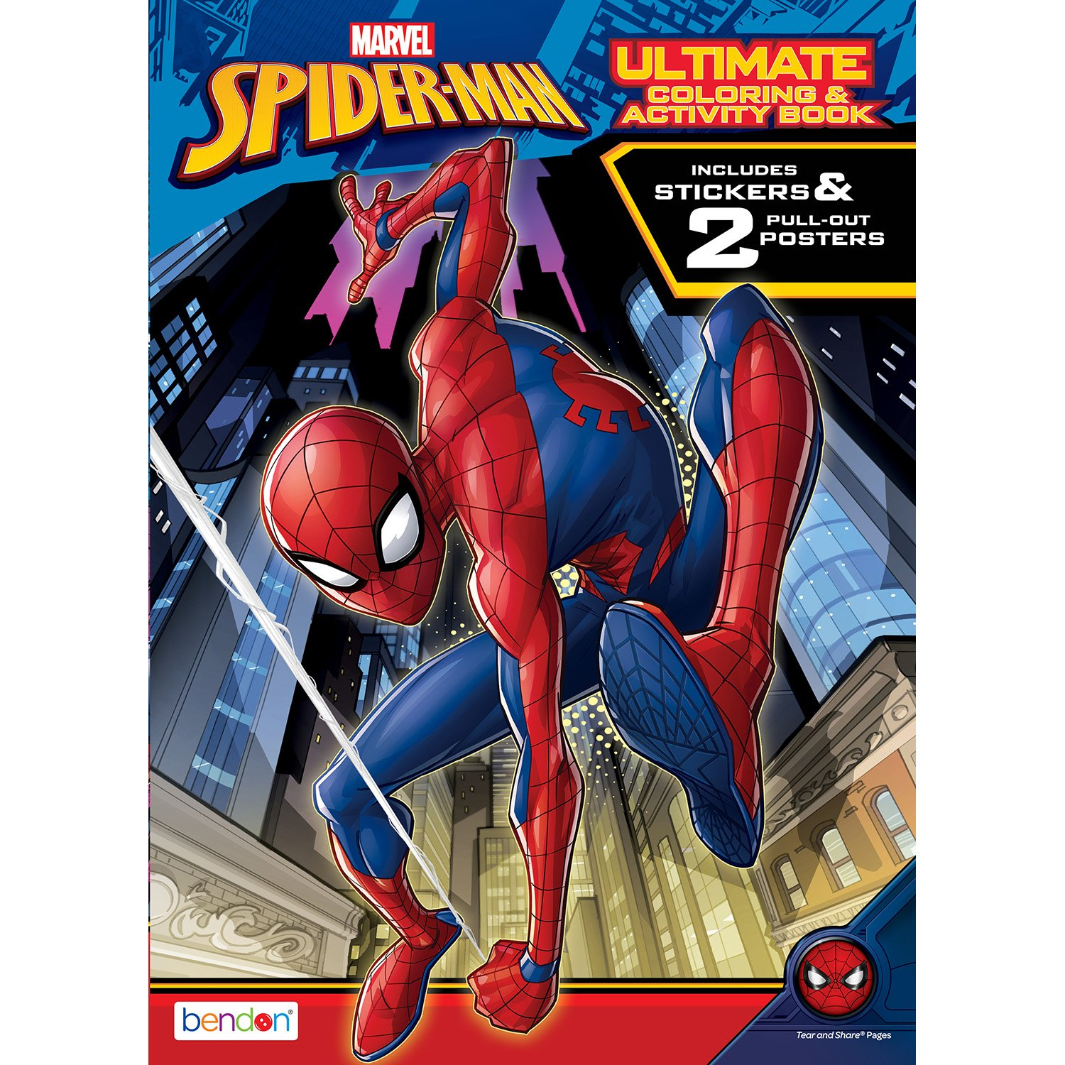 Amazon.com: Bendon Spider-Man Giant Coloring and Activity Book: Toys ...