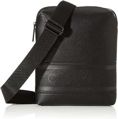 Calvin Klein Striped Logo Pu Flat Crossover - Shoppers y bolsos de hombro Hombre