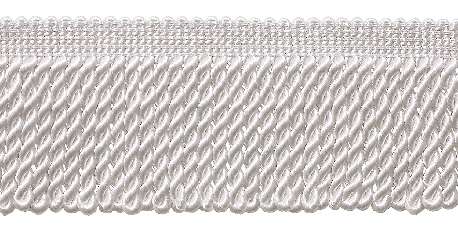 A1 DecoPro 10 Yard Value Pack of White 2.5 Inch Bullion Fringe Trim Style# EF25 Color 30 Ft // 9.1 Meters