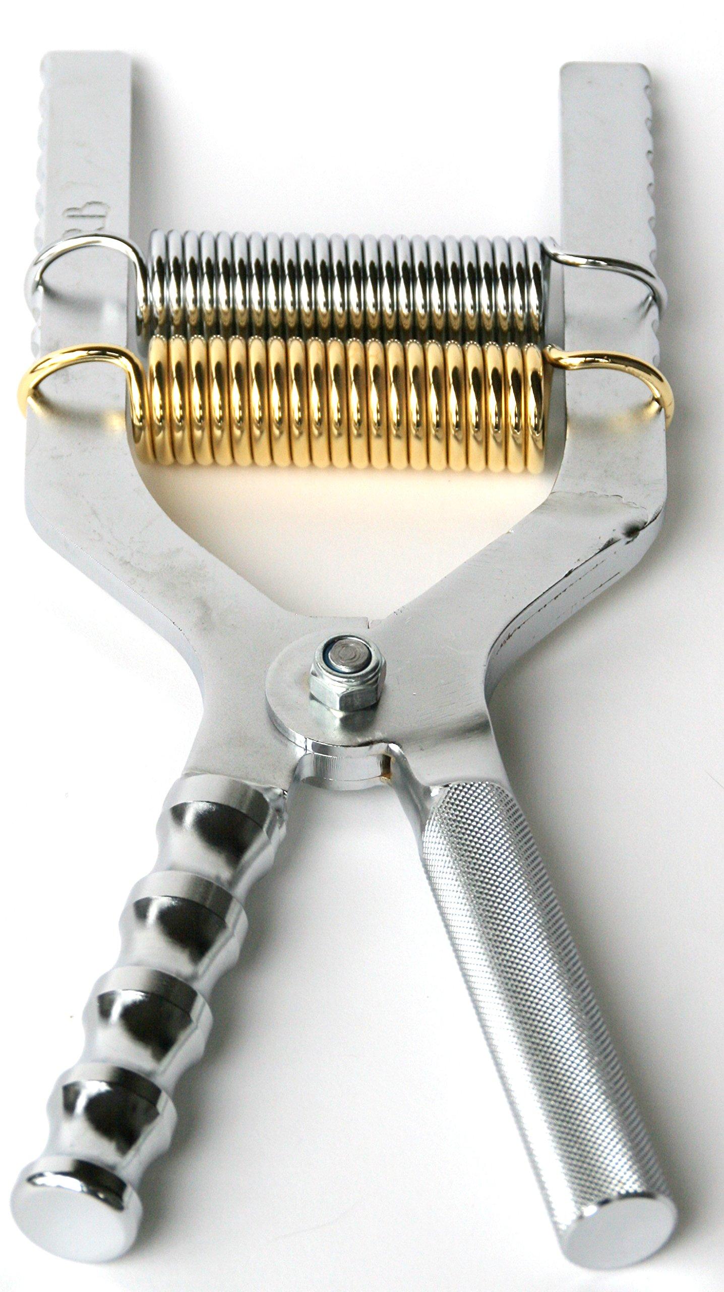 Robert Baraban Chrome Adjustable Hand Gripper 50/500lbs Resistance With Ergonomic Handle