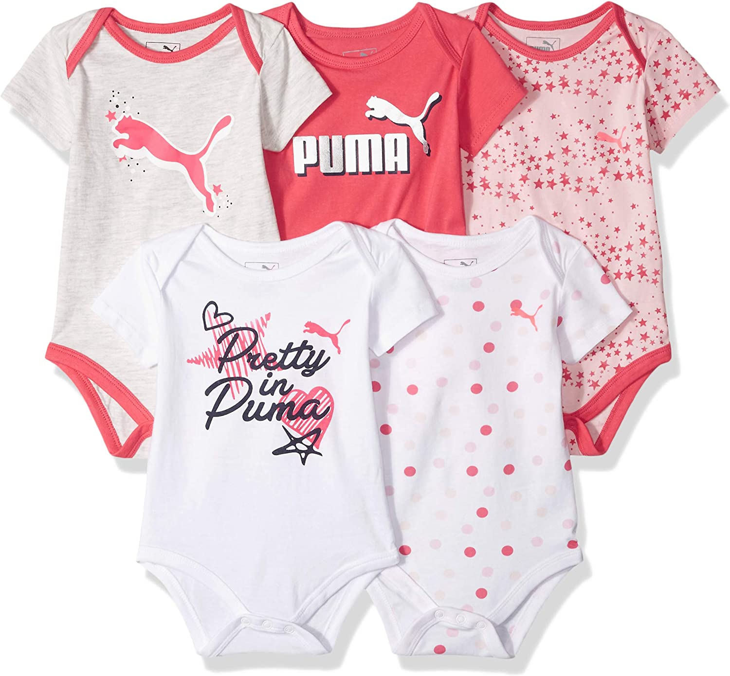 Baby Girl/'s Outfit 5 piece Set by Puma Pink Glo