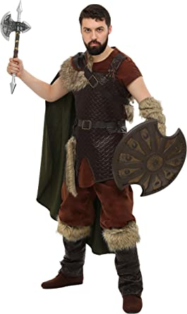 Amazon Com Plus Size Mens Viking Costume Nordic Viking Warrior Outfit For Men Clothing