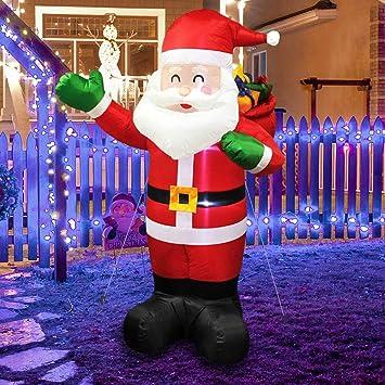 MerryXGift Christmas Inflatable Santa Claus 6ft, Xmas Airblown Inflatable  Santa Blow up Decorations with Gift - Amazon.com: MerryXGift Christmas Inflatable Santa Claus 6ft, Xmas