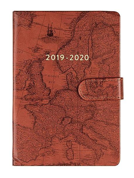 2019-2020 Eccolo Designer 18 Month Agenda Planner, Monthly & Weekly Views, 5.25 x 7.75