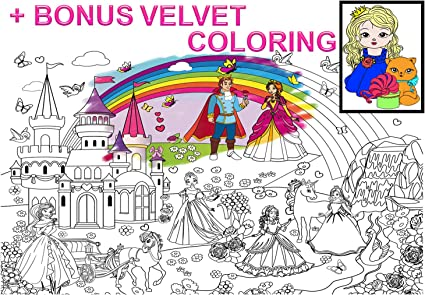 - Amazon.com: Alex Art, Giant Coloring Poster – Princess Huge Posters To Color  - Large Coloring Poster For Wall - Coloring Posters For Kids - Giant  Coloring Pages - Jumbo Coloring Poster, Big