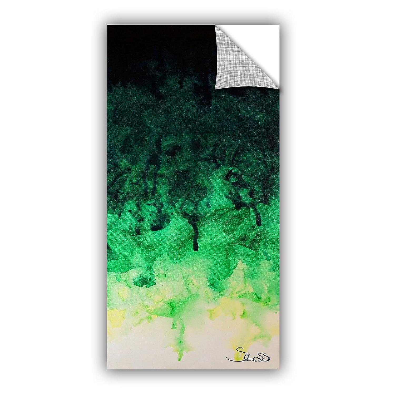 ArtWall Shiela Gosselins Green Watery Art Appeelz Removable Wall Art Graphic 18 by 36