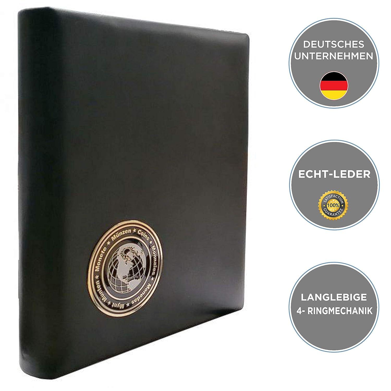 Safe 7571 Visitenkarten Mappe Aus Echtem Schwarzen Leder