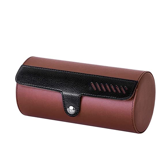 f6cb64e39a35 TRIPLE TREE Watch Roll, Travel Watch Case for 3 Watches, Travel Watch Box  with Velvet Sections to Prevent Scratching or Impact from Watches