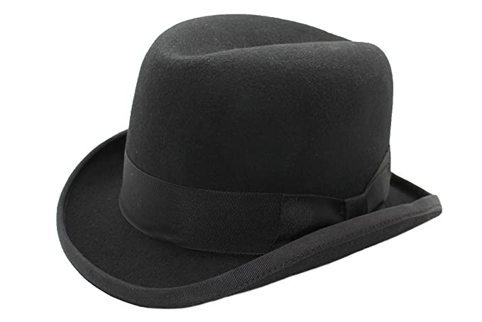 DH Hand Made 100% Wool Hard Top Churchill Homburg Felt Trilby Hat New   Amazon.co.uk  Clothing f11c3a7ed1f6