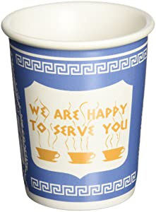 """Exceptionlab Inc. 10-Ounce Ceramic Cup""""We are happy to serve you"""""""