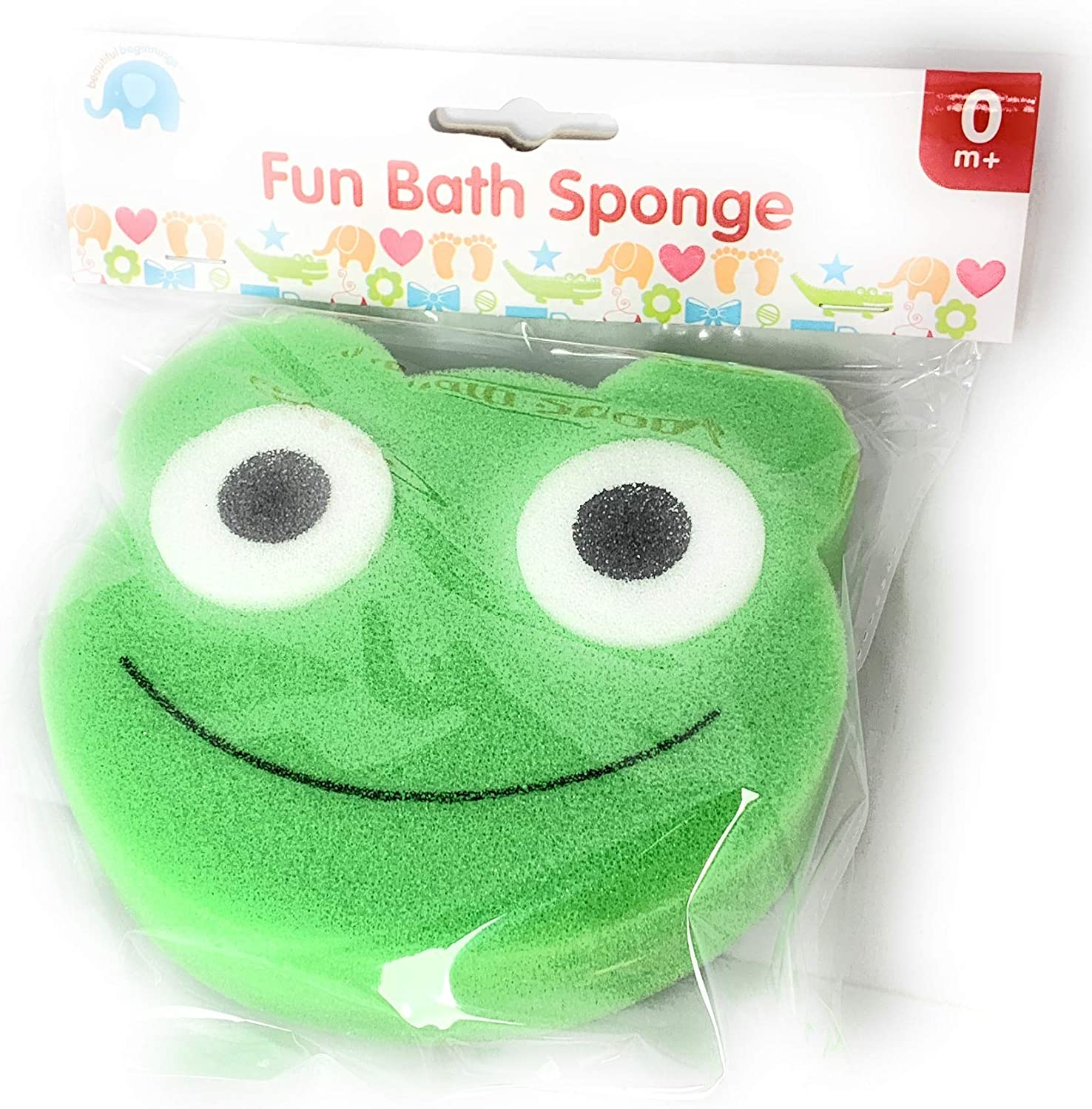 Make bathtime Extra Fun for Your Baby with These Animal-Shaped Bath Sponge Available in Green,Yellow and Pink with a Friendly face Design.