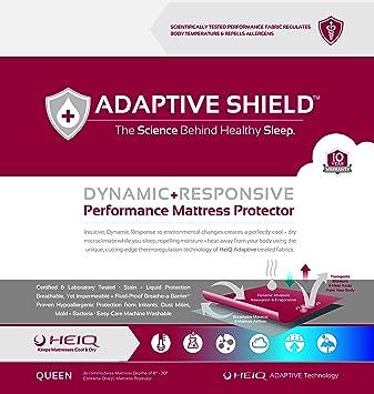Adaptación escudo protector de colchón Premium rendimiento – Laboratorio Probado alergia libre y resistente al agua