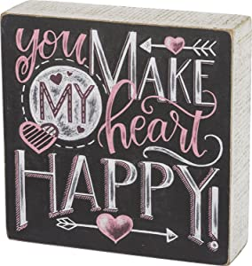 Primitives by Kathy Box Sign - You Make My Heart Happy