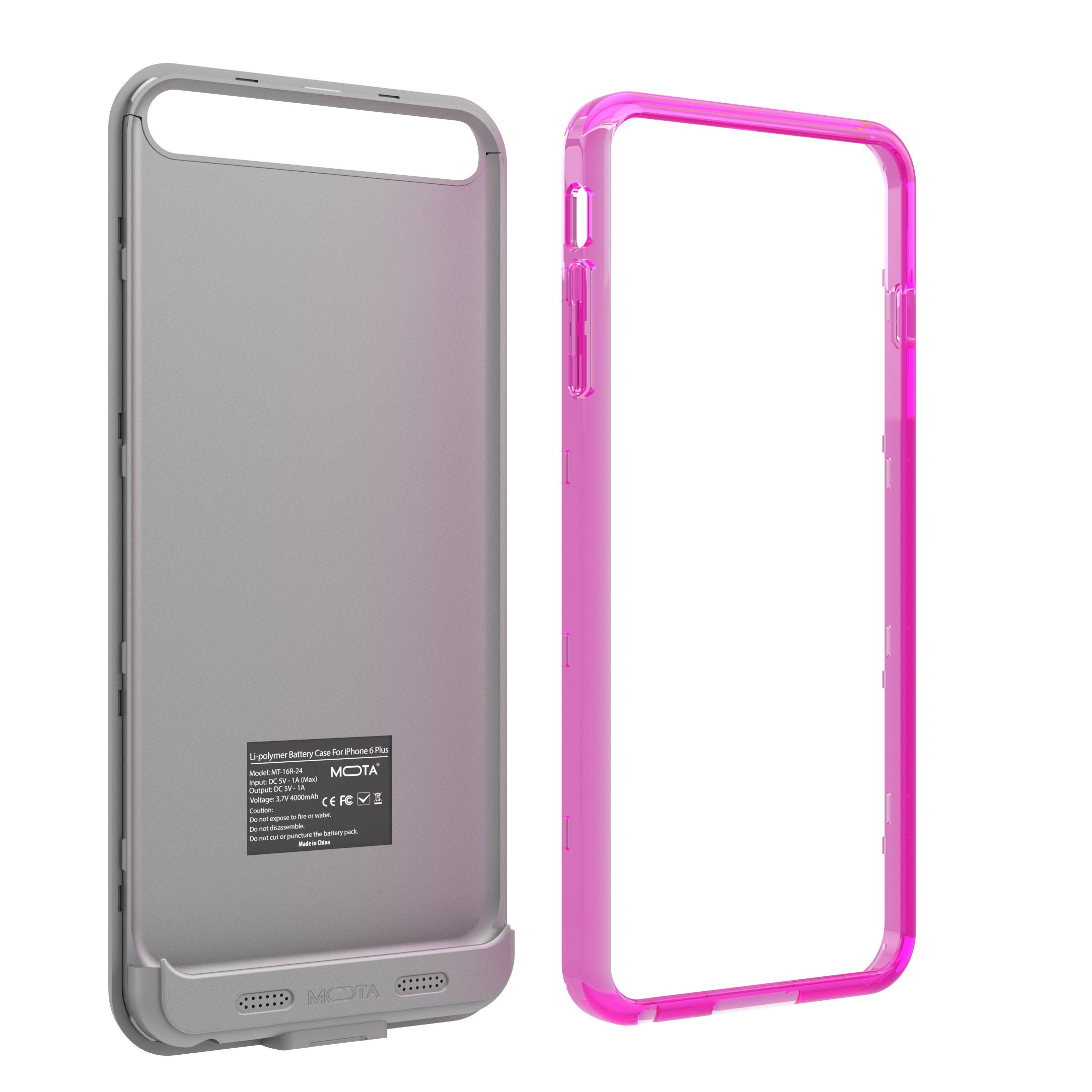 TAMO iPhone 6/6s Extended Battery Case, TAMO 2400 mAh dual-purposed Ultra-Slim Protective Extended Battery Case - Pink - Battery - Retail Packaging - Pink by TAMO (Image #8)