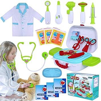 Amazon.com: INNOCHEER - Kit médico para niños, 20 piezas ...