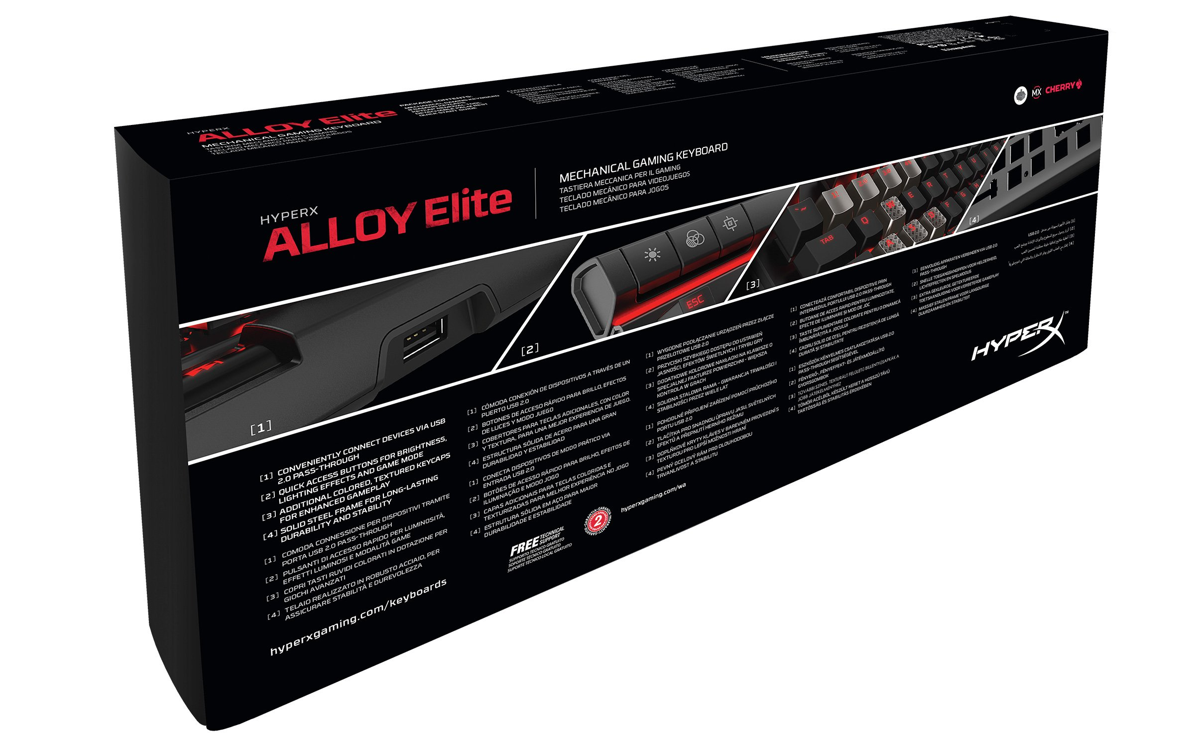 HyperX Alloy Elite Mechanical Gaming Keyboard, Cherry MX Red, Red LED (HX-KB2RD1-US/R1) by HyperX (Image #6)