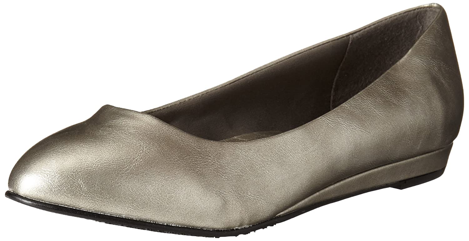 Hush Puppies Soft Style Darlene Schmal Spitz Leder Wohnungen10 XW US|Dark Pewter Leather