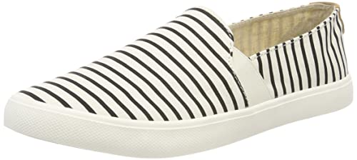 Roxy Atlanta, Baskets Slip-on Femme, (White/Stripe Tst), 36 EU