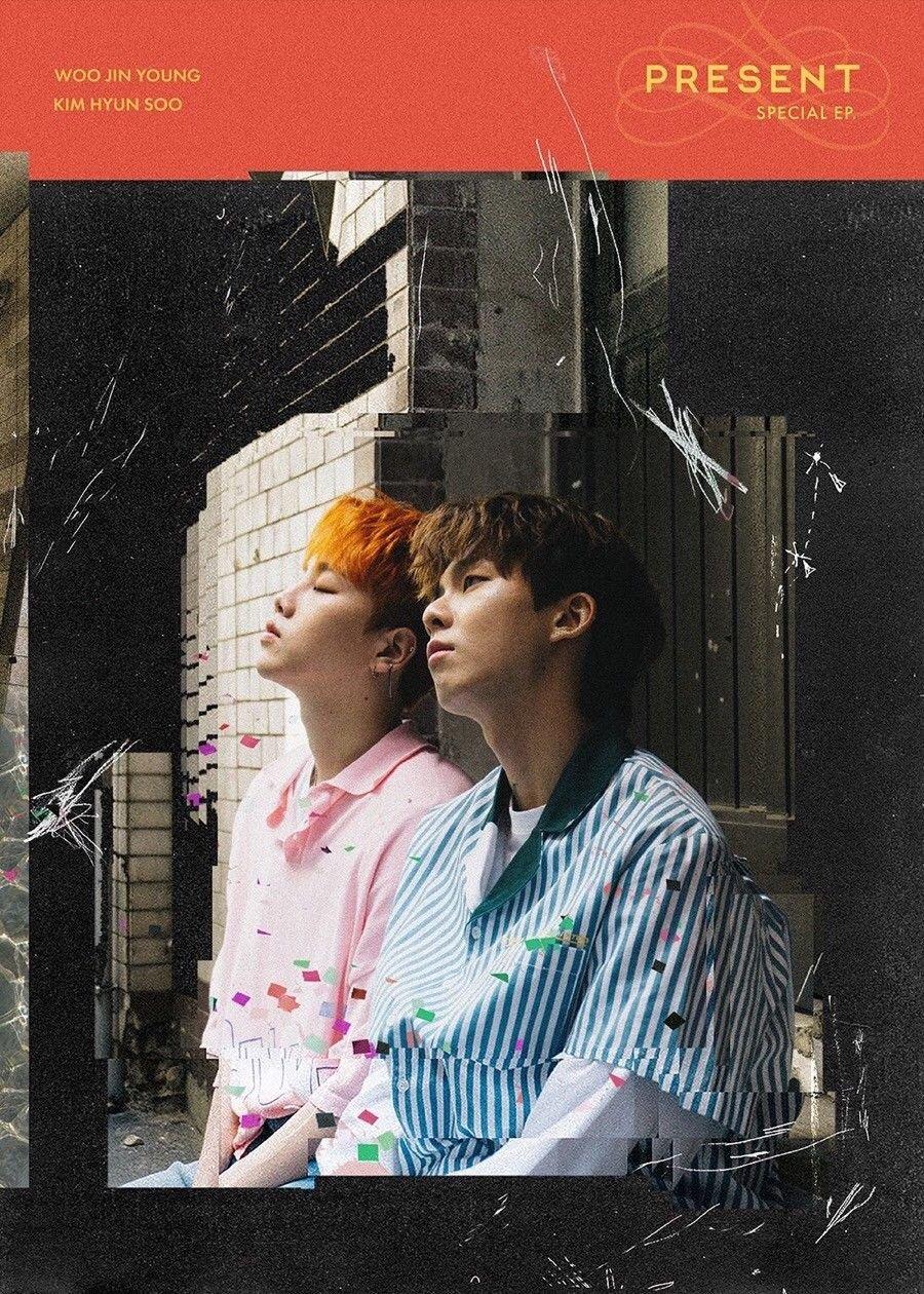 KIM HYUNSOO&WOO JINYOUNG [PRESENT] Special Mini Album CD+Photobook+PhotoCard+Tracking Number SEALED