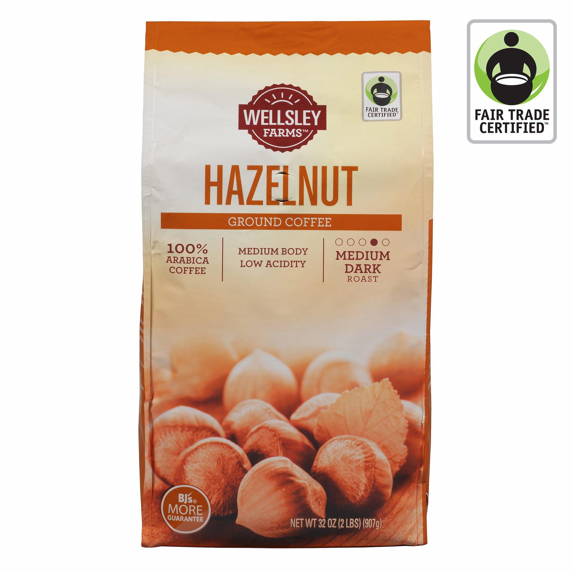 Wellsley Farms Hazelnut Ground Coffee, 32 oz. (pack of 6)