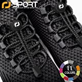 RJ-Sport Elastic No Tie Shoelaces, No tie Elastic Lace System with lock - Easy to install in a range of colours. Great for runners, children - 1 Pair