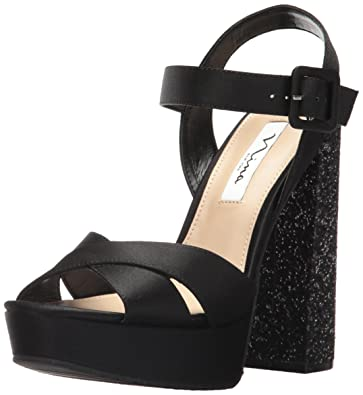Nina Womens savita Platform Dress Sandal Lsblack Size 100