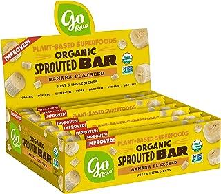 product image for Go Raw Seed Bars, Banana Flaxseed | Keto | Gluten Free Snacks | Vegan | Organic | Paleo | Superfood (10 Bars)