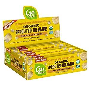 Go Raw Seed Bars, Banana Flaxseed | Keto | Gluten Free Snacks | Vegan | Organic | Paleo | Superfood (10 Bars)