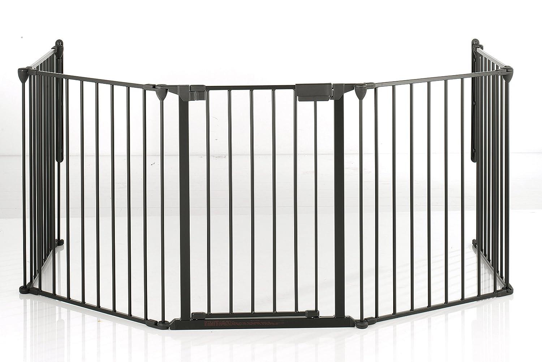 Geprüftes Kaminschutzgitter/ Ofenschutzgitter, 90 - 278 cm, variables Schutz- und Absperrgitter auch für breite Treppenaufgänge, TÜV / GS geprüft. Entspricht EN:1930:2012 90-278 cm DOLLE