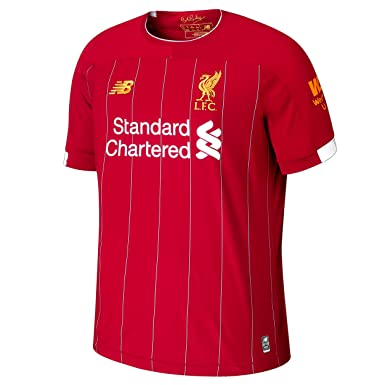 5b7b3c402af New Balance Children's Official Liverpool FC 2019/20 Home Junior Ss Jersey  S/s Top: Amazon.co.uk: Clothing