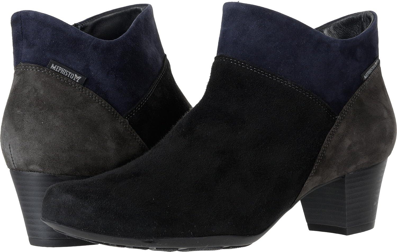 Mephisto Women's Michaela Bootie B06XCL8RLJ 36.5 B EU|Black/Graphite/Navy Velcalf Premium