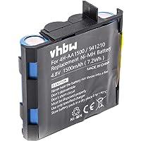 vhbw NiMH batería 1500mAh (4.8V) para tecnología médica como estimulador muscular como Compex 4H-AA1500, 941210, 941213